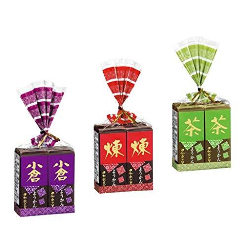 (Set of 3) Warakuno Sato Mini Yokan 4 pieces, 3 types: Neri (58g x 4), Ogura (58g x 4), Matcha...
