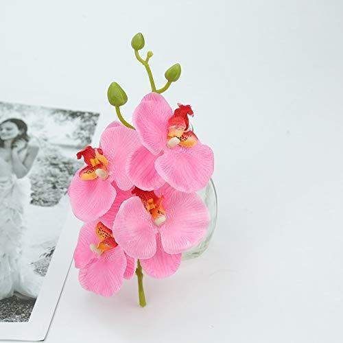 QWERTYU Kunstmatige vlinder orchidee boeket nep planten vaas voor thuis bruiloft decoratie decoratieve bloempot zijde bloemen snaar LIFUQIANGME