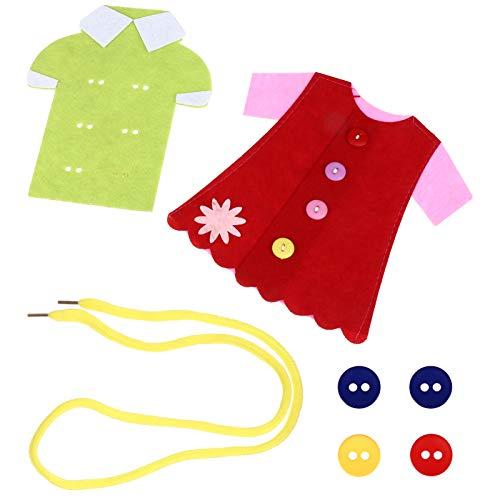 TOYANDONA Snöring Leksak För Dagsbyggande Barn Sy Kit Färg Matchar Spel Fina Motor Färdigheter Montessori Leksaker För Förskolan Todd Flicka Slumpmässig Färg 2Stk