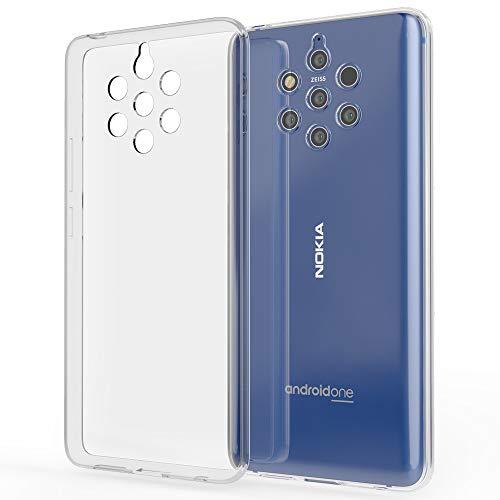 NALIA Handyhülle kompatibel mit Nokia 9 PureView Hülle, Dünne Durchsichtige Silikon Schutzhülle Phone Hülle Soft Cover, Ultra-Slim Bumper Gummi Handy-Tasche Skin Etui Schale Klar Weich - Transparent