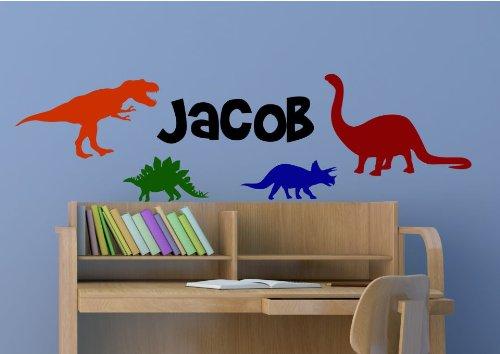 Baby Dinosaurs Wall Decal Nursery 3D Smashed Wall Decor Art Sticker Kids Vinyl Mural Custom Nursery Gift BL45
