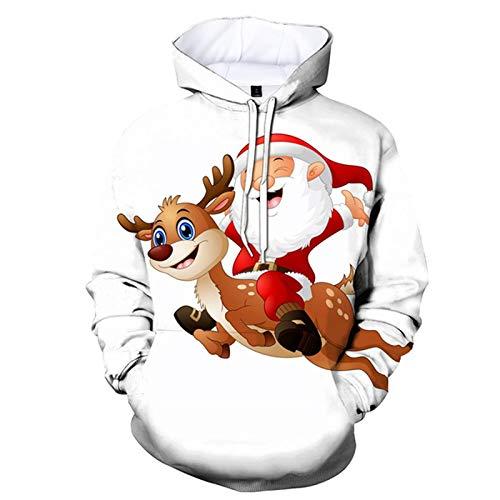 Kobay Kapuzenpullover Damen Weihnachten Herbst Winter Hoodie Pullover Känguru-Tasche Sweatshirt Langarm Winterjacke Mantel Top