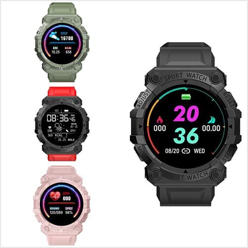 Smart Watch, Multifunktionsuhr 1,44 Zoll runder Bildschirm Gesundheit gebogener Bildschirm Bluetooth-Anrufuhr, wasserdichte IP67 Smartwatch, Fitness Uhr (Schwarz)