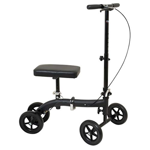 Carex Folding Knee Walker Scooter - Knee Scooter for Foot Injuries, Ankle Injuries, Broken Foot - Medical Scooter for Foot Surgery
