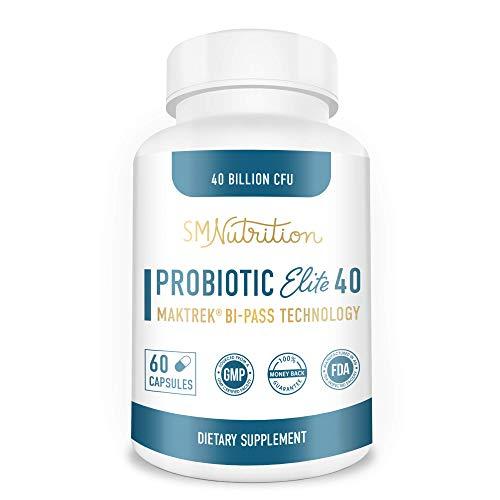 Probiotic 40 Billion CFU Supplement- Guaranteed Potency of Probiotics - Patented Delay Release, Shelf Stable - Lactobacillus Acidophilus - for Women for Men - No Refrigeration – Digestive Health