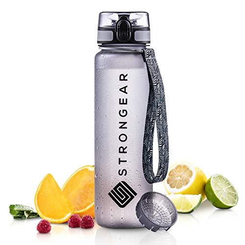 STRONGEAR® Premium Sport-Trinkflasche - Fruchtsieb 650ml - BPA, BPS frei