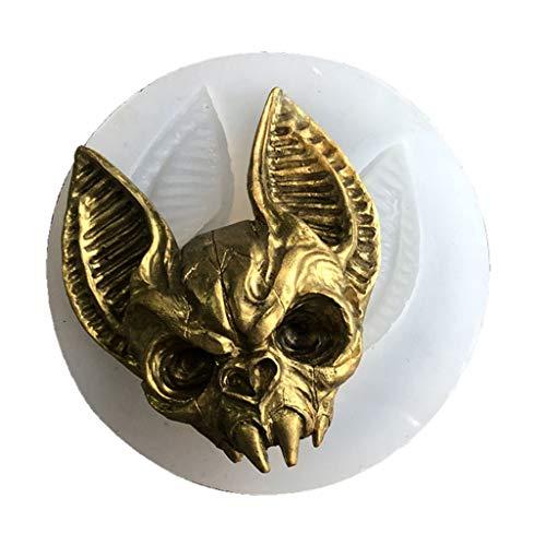 HUGUWEDING Eye Kitten Charm Silicone Mold, Sphynx Cat Mold Raven Skull Head Mold, Crystal Epoxy Resin Mold, DIY Crafts Jewelry Making Tools