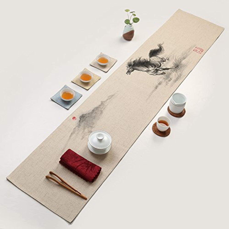bienvenido a orden Tabla Runnertea Camino de mesa pintado pintado pintado a mano moderno minimalista té paño de lino cojín del té seco, con gran velocidad, los 30  260cm  centro comercial de moda