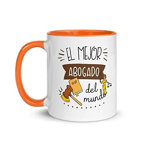 Kembilove Taza de Desayuno del Mejor Abogado del Mundo – Tazas de Café de Profesiones y Trabajadores para la Oficina – Tazas de Té para Profesionales – Taza de Cerámica de 350 Ml