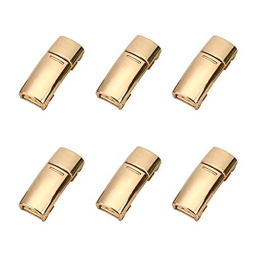 willikiva Schnürsenkel, Schnallenverschluss, Metall, schnell magnetisch, kein Binden für Kinder und Erwachsene, 6 Stück - - Einheitsgröße