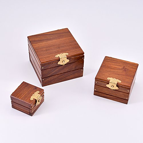 Super Locked Boxs – Professionelle (Rosewood Edition) Magic Tricks Magician Stage Gimmick Fun Borrow Object Appearing in Box Magic