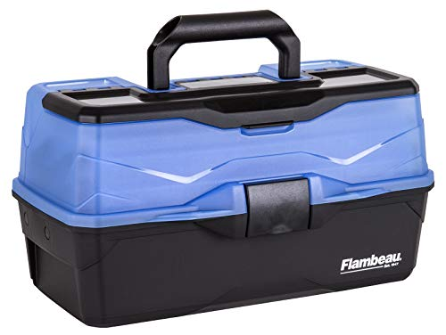 Flambeau Outdoors 6383FB 3-Tray - Classic Tray Tackle Box - Frost Blue/Black