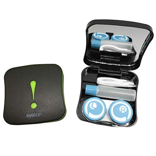 Healifty Mini Kontaktlinsen Behälter mit Spiegel Kontaktlinsen Aufbewahrungsbox Taschenspiegel für Mädchen (Zeichensetzung)