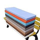 Cojín de asiento grueso para sofá, banco de madera, zapatero, interior y exterior, cojín para muebles de jardín, lavable, cojín largo para silla, muchos colores, 150 x 40 cm