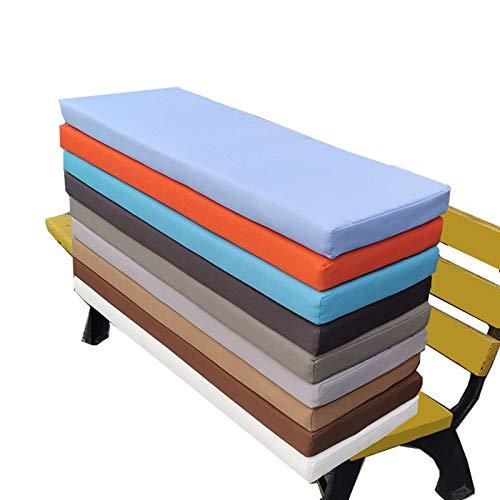 Cojín de asiento grueso para sofá, banco de madera, zapatero, interior y exterior, cojín para muebles de jardín, lavable, muchos colores Shenhui-100 x 40 cm