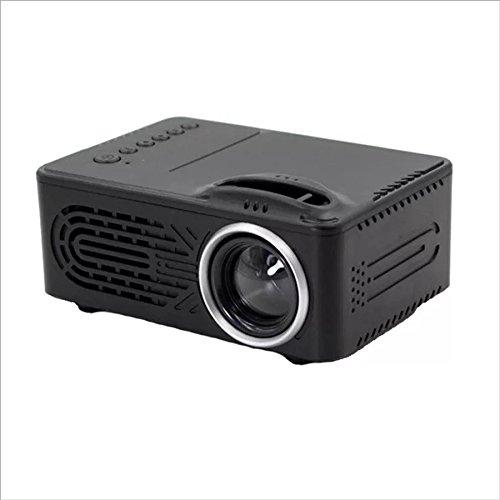 XHZNDZ Mini portátil de 4.0 Pulgadas con Fuente de luz LED Proyector Multimedia Home Theater Proyector de Video Soporte 1080P Home Theater con HDMI, USB, VGA, Puerto AV, Negro (Color : Black)