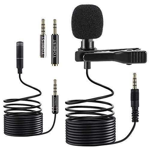 Micrófono de Solapa, Everpertuk 3.5mm...