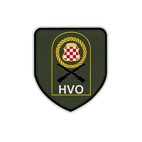 Copytec Patch/Aufnäher - HVO Zentralbosnien Hrvatsko vije?e obrane Verteidigungsrat Kroatien Kroatische Republik Herceg-Bosna Armee Kroaten Bosnien Herzegowina Militär Wappen Abzeichen Emblem #19239