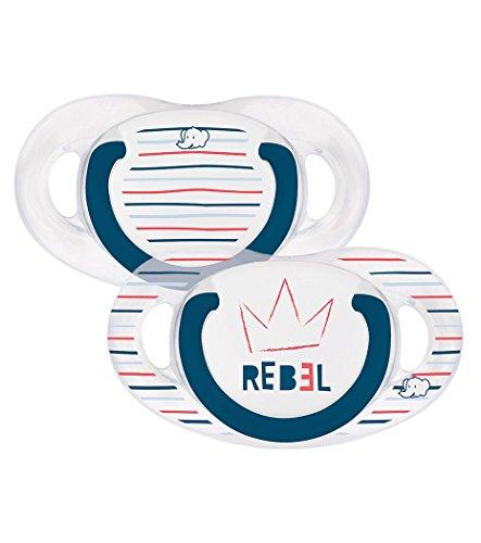 bébé confort Rebel Rules Rebel Set de 2 Sucettes Natural Physio en Silicone 18/36 Mois
