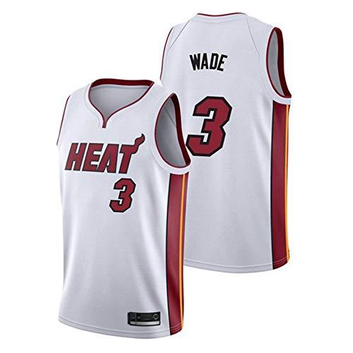 Uomo Donna Gilet da Basket NBA Miami Heat 3# Wade Jersey Canotte da Basket Estiva da Ricamo
