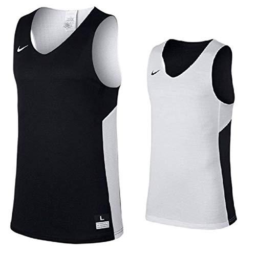 NIKE ナイキ DRI-FIT バスケットボールジャージー リバーシブル タンクトップ US-L(180-189cm) 国内正規品 867766 チームブラック×チームホワイト