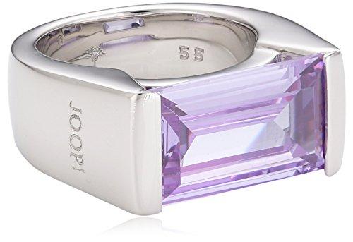 Joop! Damen-Ring mit violetter Zirkonia 925 Sterling Silber Gr. 55 (17.5) JPRG90304C550