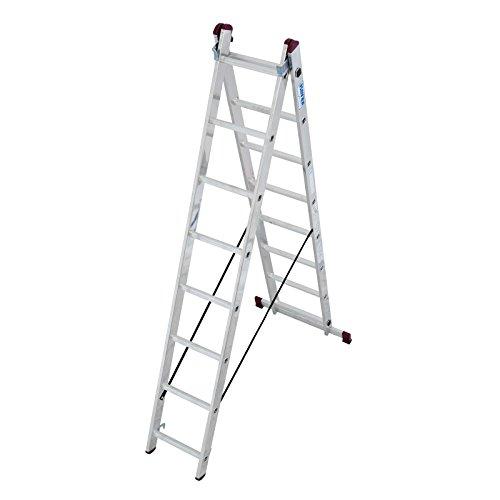 Krause–corda Escalera multiusos de aluminio 2x 8o 2x 11peldaños DIN EN 131–1Travesaños, número: 2x 8peldaños