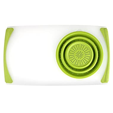 Dexas Over the Sink Strainer Board, 11.5 x 20 , Green