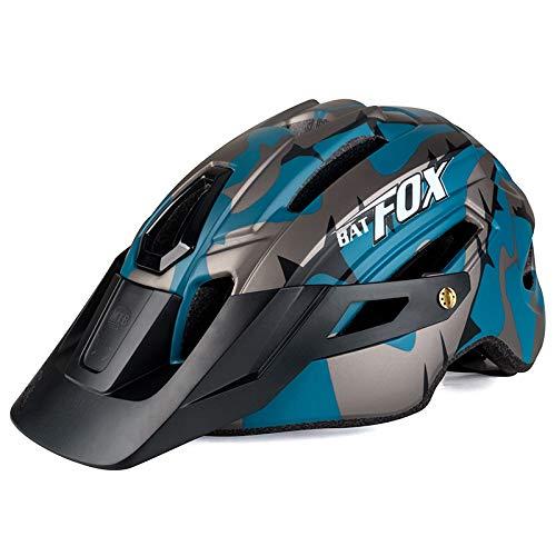 PTSOC Adult Mountain MTB Lightweight Bike Helmet with Adjustable Regulator Tail Light Green