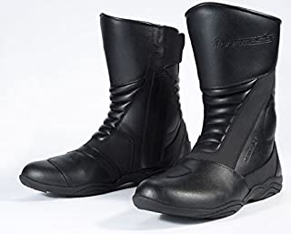Tour Master Solution WP 2.0 Road Women's Leather Street Bike Motorcycle Boots - Black / Size 10