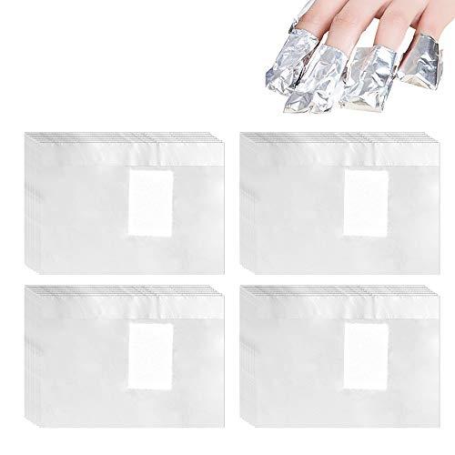 500PCS Remover Foil Wraps del Rimuovere Smalto Unghie del Gel di Rimozione Rimuovere Smalto Semipermanente Strumento Manicure