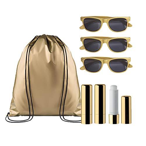 noTrash2003 Hochzeit-Gastgeschenk für Hangover-Kit oder Goody-Bag – Gastgeschenk-Ideen für Hen-Party zum JGA mit Geschenken für Shower Party, Farbe: Gold