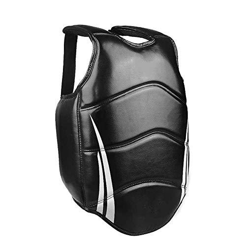 JXS Boxen Rib Guards - Eva Gefüllt Anti-Impact - MMA Body Protector Kampfsport WTF Rib Schild Rüstung - Sanda Muay Thai Brustschutz,Schwarz,170~190cm