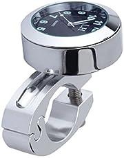 """WINOMO Motos Handbar montaje Reloj Digital resistente al agua 7/8""""(plata)"""