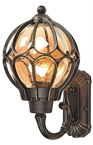 Lampade da parete Outdoor indoor in stile europeo patio lampada da parete porta entrambe le parti lampada da parete patio villa palla in alluminio impermeabile muro scence e27 edison victoria classico