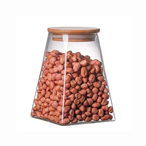 ECSWP Cucina conservazione degli Alimenti granella di Zucchero Organizzatore Spezie Contenitore Trasparente di Vetro Bottiglie di deposito sigillati Candy vasi di Vetro Tea Box