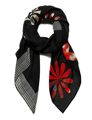 Desigual Foul_Logo Love Sciarpa di Moda, Black, U Donna