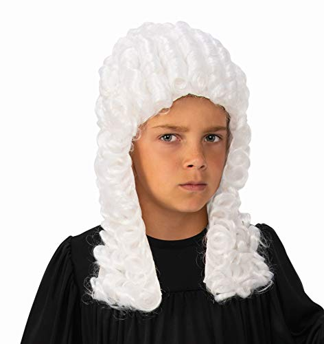 Rubie's Colonial Costume Wig for Kids | Judge Wig for Kids White