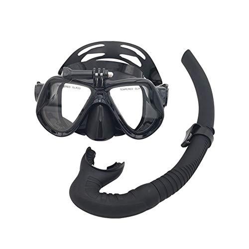 QZH Buceo Adultos, Profesional de Snorkel Gafas de natación Tubo respirador del Salto del Flotador del Marco Conjunto de Silicona Sin Fugas para Hombres y Mujeres Equipo de Buceo