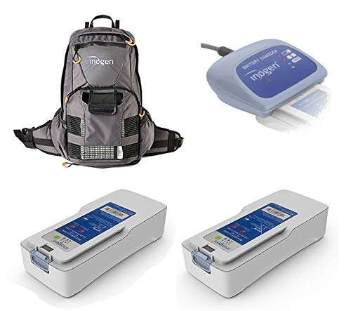 Inogen One G4 Airline Power Bundle - Two 8 Cell Battery, External Charger, Backpack, and Airline Priority Tag Identifier
