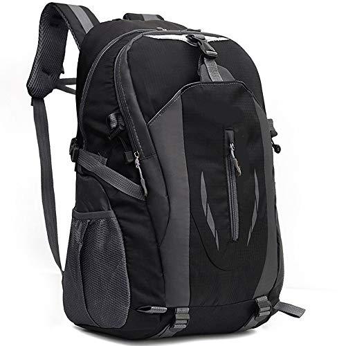 HunterBee Mochila de viaje ligera impermeable de senderismo 40L al aire libre Daypack-negro