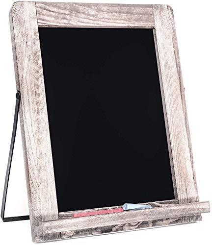 "Chalkboard - Magnetic & Non-Porous - Framed Chalkboard - Vintage Decor - Standing Chalk Board for Wedding, Kitchen, Bar, Restaurant, Menu, Tabletop & Home - 10"" x 12.5"" - White"