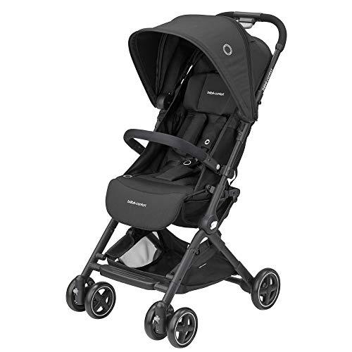 Bébé Confort Lara, Poussette canne Ultra compacte, De la naissance à 3,5 ans (0-15 kg), Essential Black