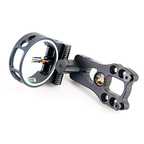 TOPOINT ARCHERY 3 Pin Bow Sight - Fiber, Brass Pin, Aluminum Machined - Right and Left Handed
