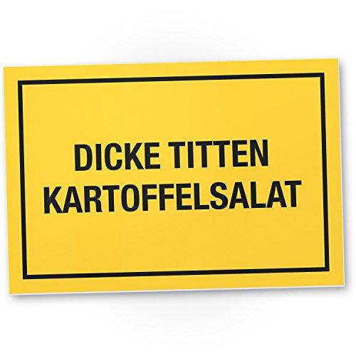 DankeDir! Dicke Titten Kartoffelsalat Kunststoff Schild mit Spruch Mallorca Party Deko Scherzartikel Saufen Malle Urlaub Geschenkidee Junggesellenabschied lustiges Geschenk für ihn Geschenk Männer