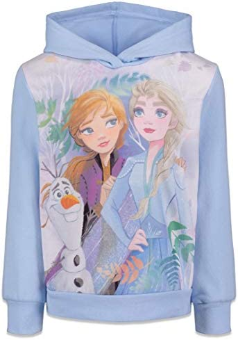 Disney Frozen Elsa Anna Olaf Toddler Girls Fleece Hoodie 3T product image