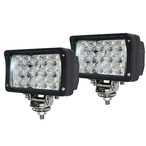 12volt Led Work Lights,2PACKS 45w 6inch Led Lights Bar Led Flood Lights12v-30v +Flush Mount Brackets Led Lights for Trucks for Off-Road 4x4, ATV, SUV, UTV,Boat -Waterproof