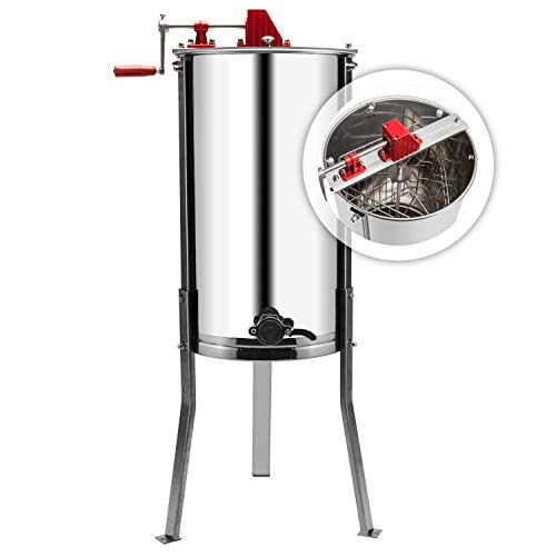 VINGLI Manual Honey Extractor Separator, Food Grade Stainless Steel Honeycomb Spinner Drum Crank by...