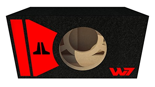 Sonix Enclosures Stage 2 Special Edition Single 10W7 10W7AE JL Audio Ported Subwoofer Box - RED