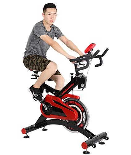 Lcyy-Bike Addestratori di Biciclette Resistenza Magnetica 18 kg Volano Cardio Workout con Display Multifunzionale E Ammortizzatore A Molla Manubrio Regolabile E Altezza Sedile Basi Rinforzate